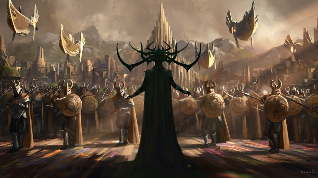 hela thor ragnarok movie 2017 art 1612