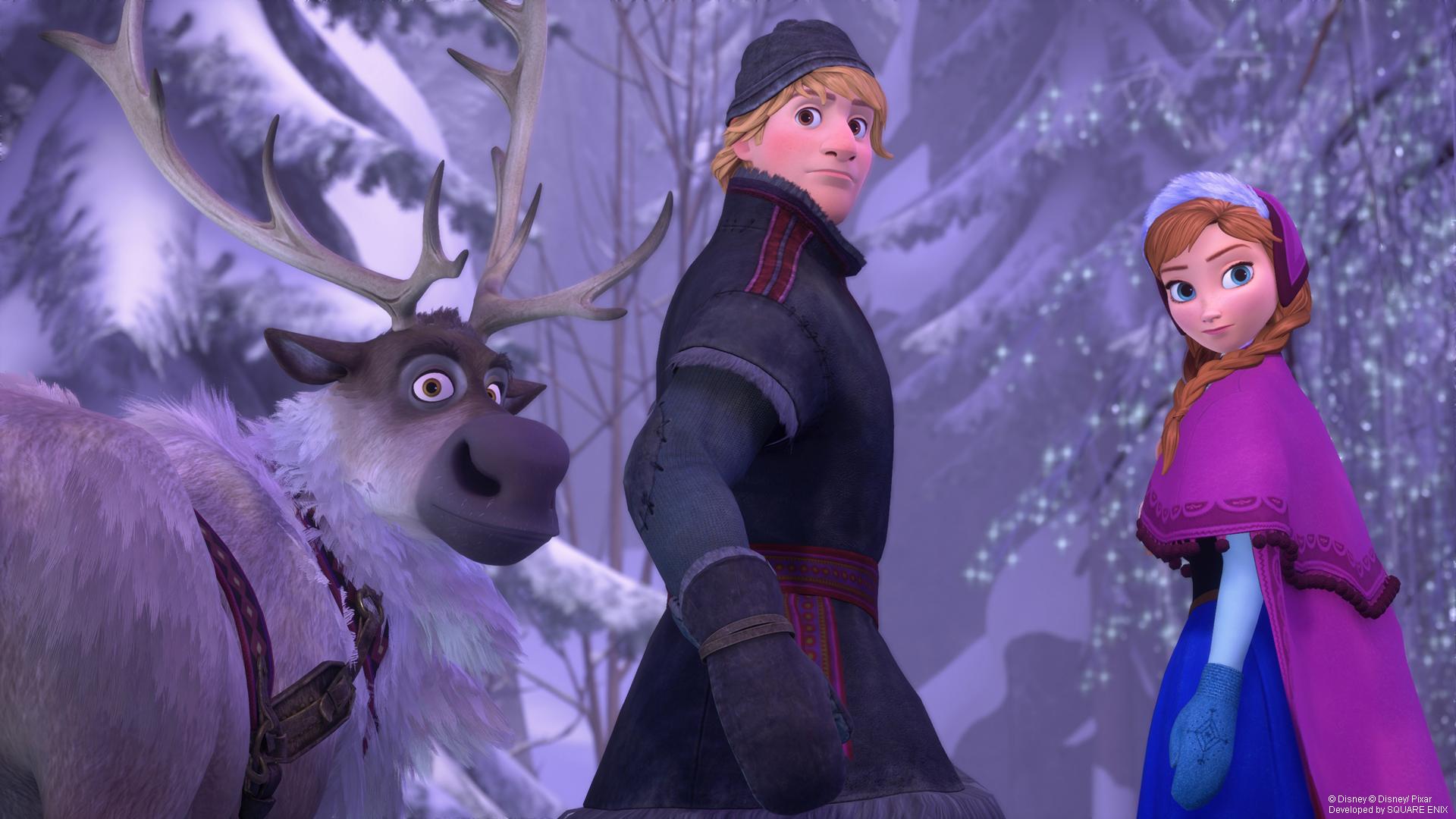 Wo ist Elsa? Anna, Kristoff und Sven helfen euch bei der Suche.