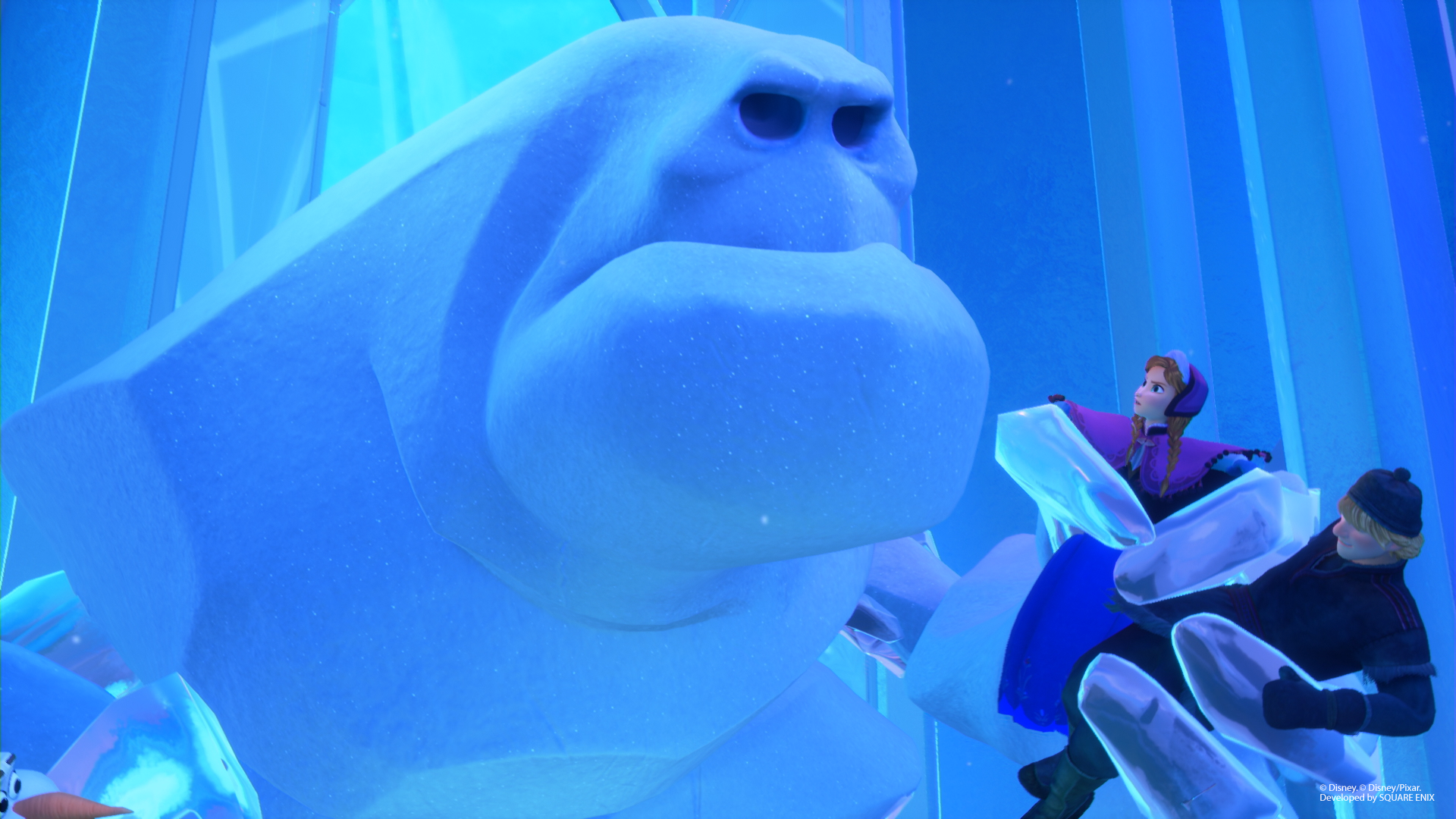 Auch in Kingdom Hearts III wird Arendelle von riesigen Schneemonster bevölkert.