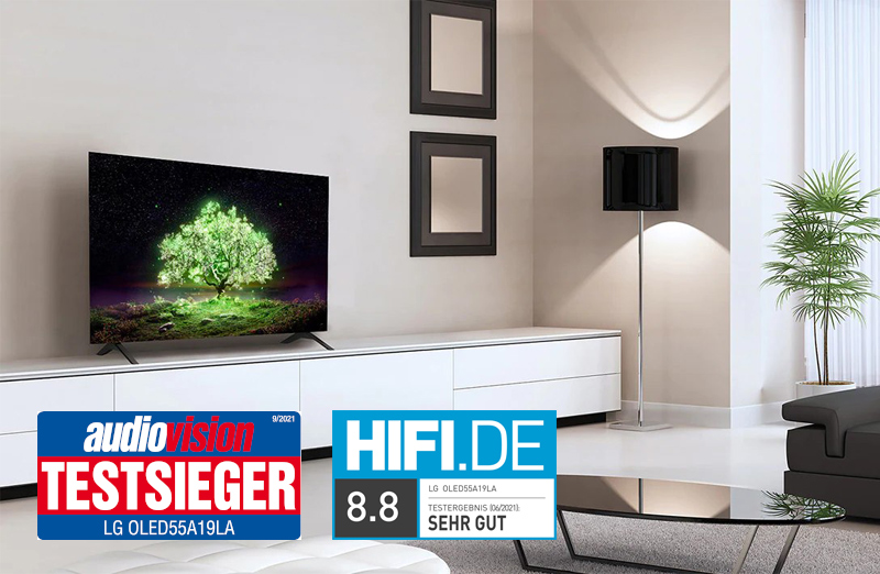 Der OLED55A19LA Sieht nicht nur als Wohnzimmer-Deko gut aus, sondern liefert fürs Geld auch ein hervorragendes Bild. Bildquelle: LG